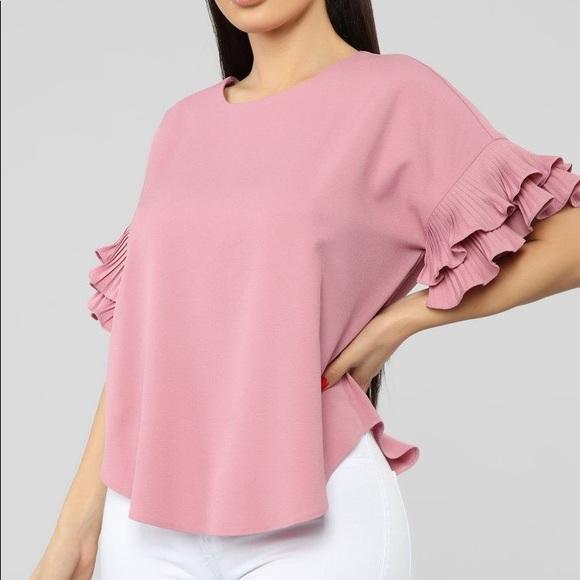 Ruffle mauve shirt